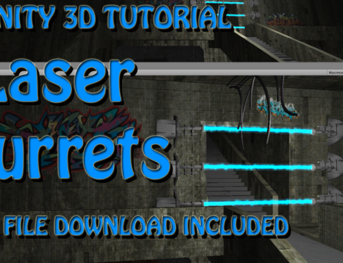 Laser Beam Turrets Using Particle System Unity Tutorial