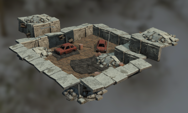 Scrapyard Level fbx