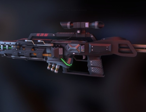 Sci-fi rifle M13-Gaus