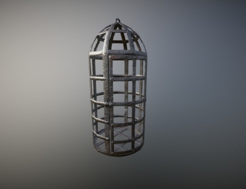 Low Poly Medieval Cage