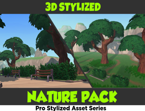Stylized Hand Painted Nature Pack – Free